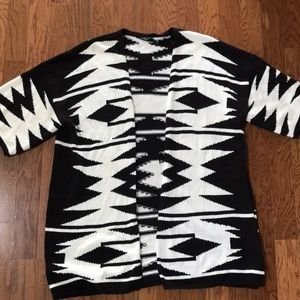 Ralph Lauren cardigan Aztec black and cream